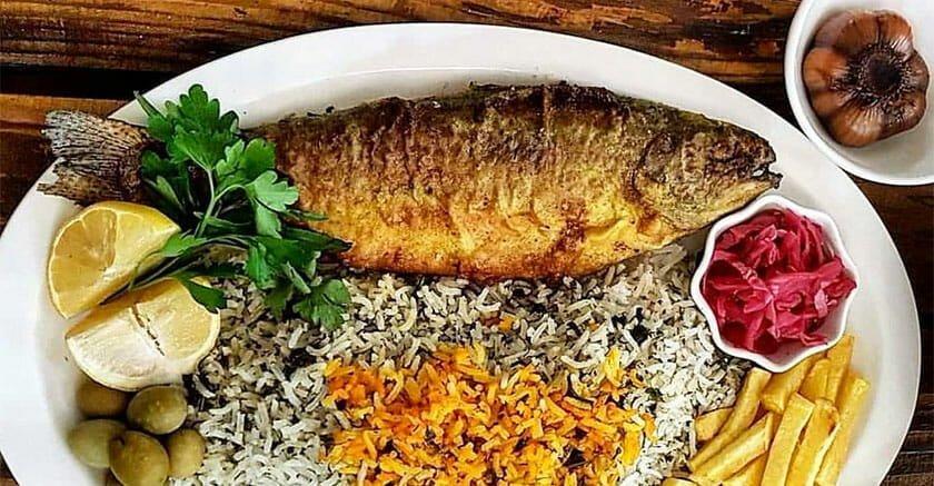 طرز تهیه سبزی پلو با ماهی مجلسی